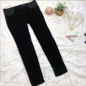 NWT J Brand Mama J Super Skinny Black Velvet Jeans